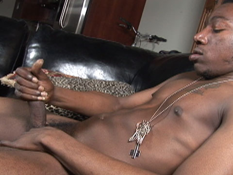 This is Jahai's first video, and he's all about da' business. He's even come to the shoot with his pants unbuttoned and ready to jerk his meat. After talking about his fantasies and favorite positions he shows off his nice, cut body and long, sweet cock.